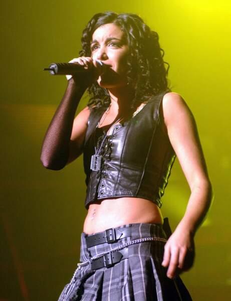 Ses boucles sophistiquées pour sa première tournée en 2002