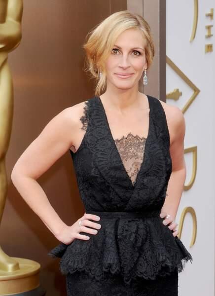 Julia Roberts à la 86ème cérémonie des Oscars à Hollywood en mars 2014