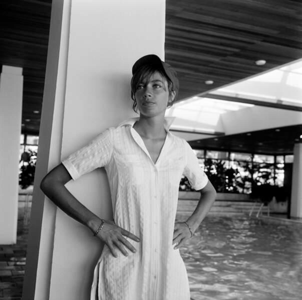 Françoise Hardy à Cannes le 4 août 1967.