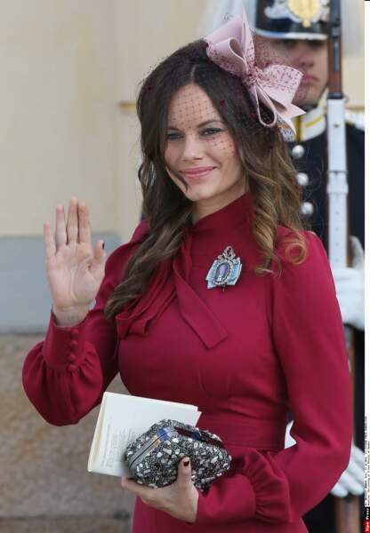 La princesse Sofia, qui attend à son tour un heureux événement