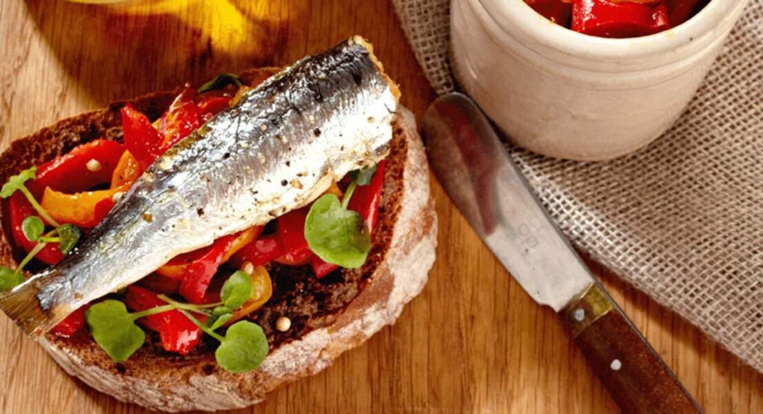Tartines gourmandes aux sardines