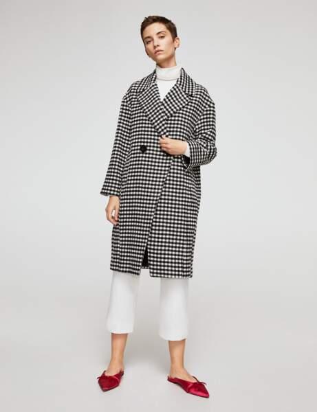 Mango : le manteau oversize à carreaux