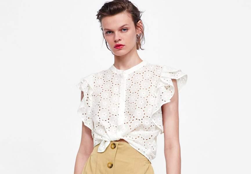 Nouveautés Zara: la blouse brodée