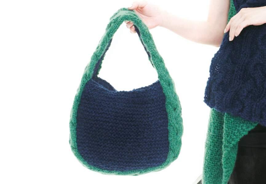 Bicolore, un sac besace