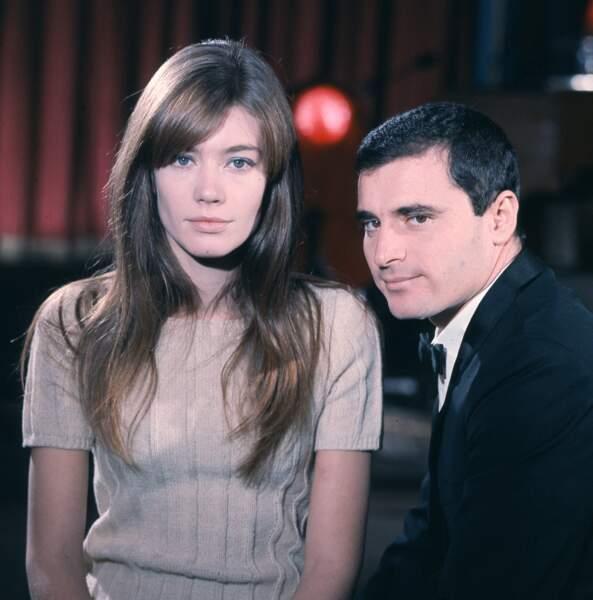 Françoise Hardy et le chanteur italien Edoardo Vianello en février 1966.