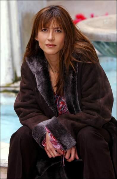 """Sophie Marceau à Rome pour la présentation du premier film qu'elle a réalisé """"Parlez-moi d'amour"""" en 2003."""
