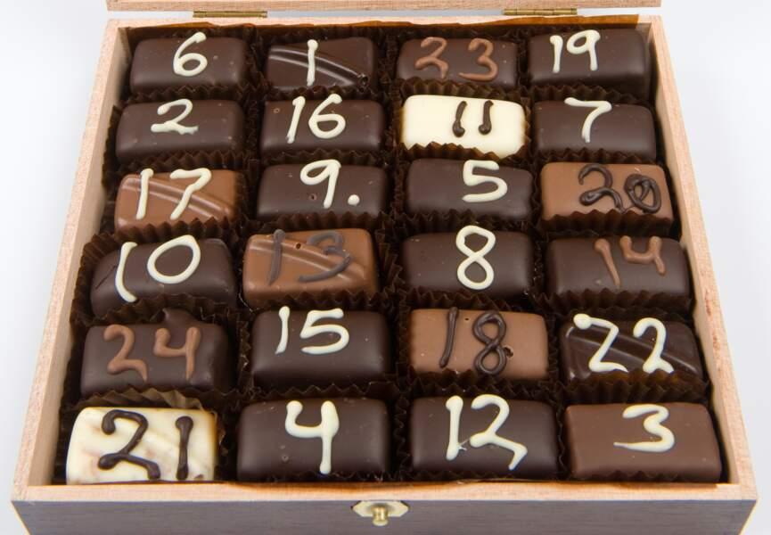 Compte à rebours en chocolats