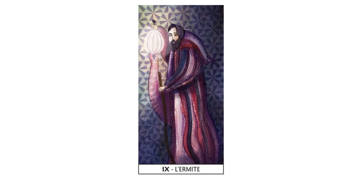 Lame 9 du Tarot des Mages : L'Ermite