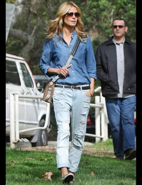 Heidi Klum et son total look décontracté