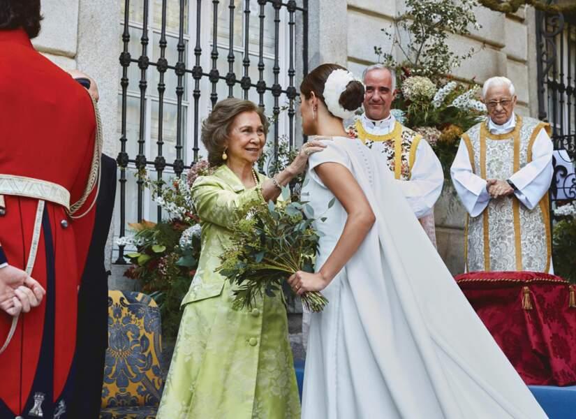 Sofia Palazuelo avec la reine Sofia d'Espagne le 8 octobre à Madrid