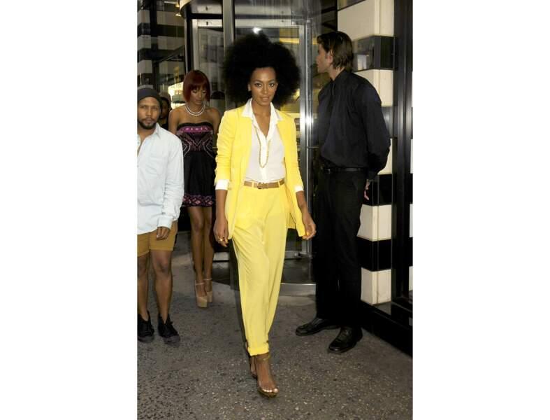 Le jaune citron comme Solange Knowles