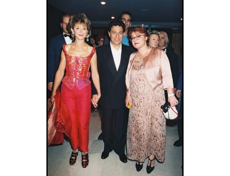 Là voici en compagnie de Marie-Anne Chazel et Christian Clavier en 1998