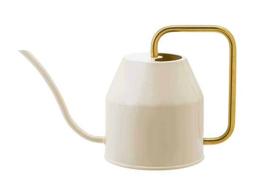 Arrosoir ivoire et or