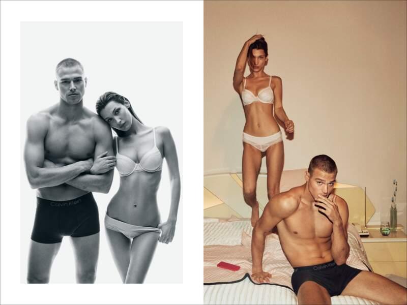 Le casting étonnant de Calvin Klein : Bella Hadid et Matthew Noszka