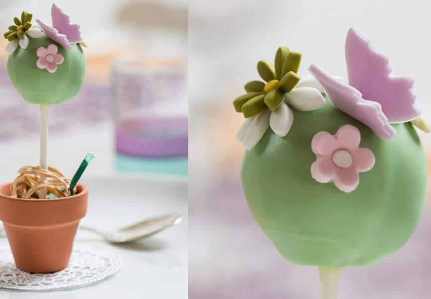 Des cake pop de printemps