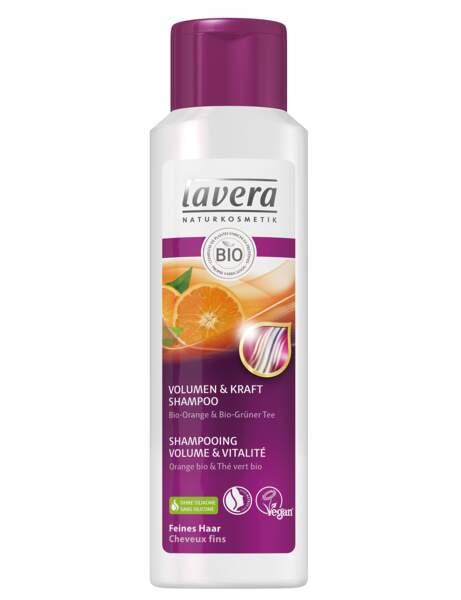 Le shampooing volume et vitalité Lavera