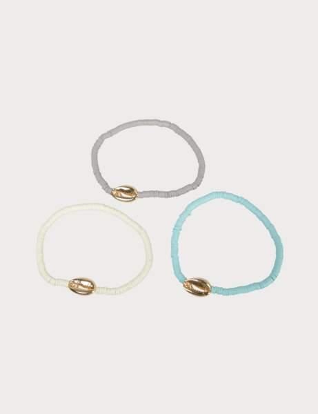 Tendance coquillages et crustacés : bracelets marin