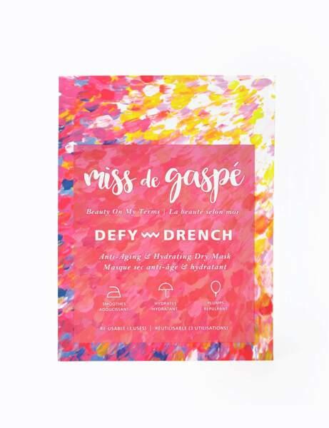 Masque sec anti-âge et hydratant Defy Drench de Miss de Gaspé