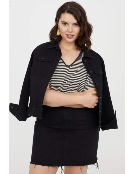 Mode grande taille : la jupe en jean