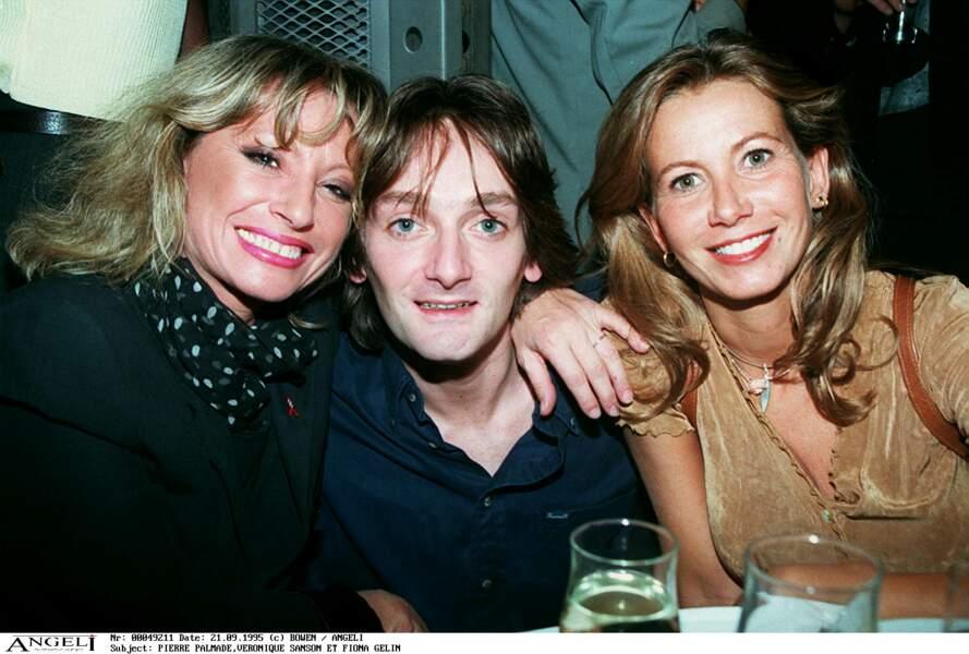Véronique Sanson, Pierre Palmade, Fiona Gélin inaugurent la discothèque Silver Factory à Paris le 21 septembre 1995