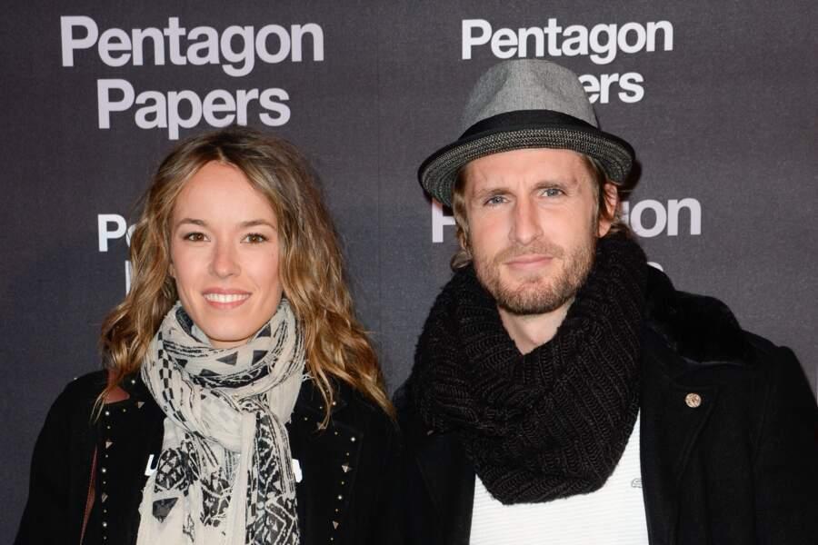 """Philippe Lacheau et sa compagne Elodie Fontan à l'avant-première de """"Pentagon Papers"""" le 13 janvier 2018."""