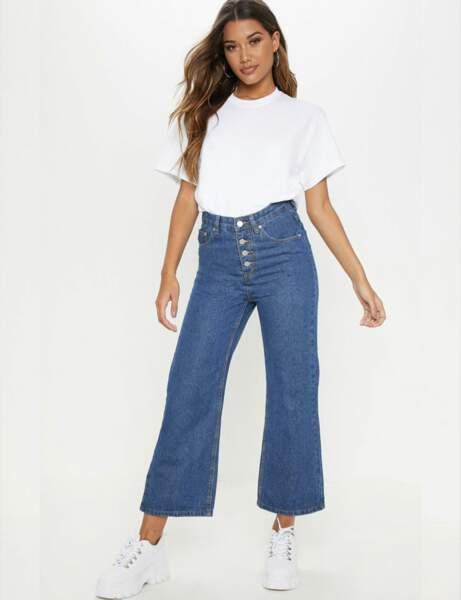 Tendance jean : boutonné