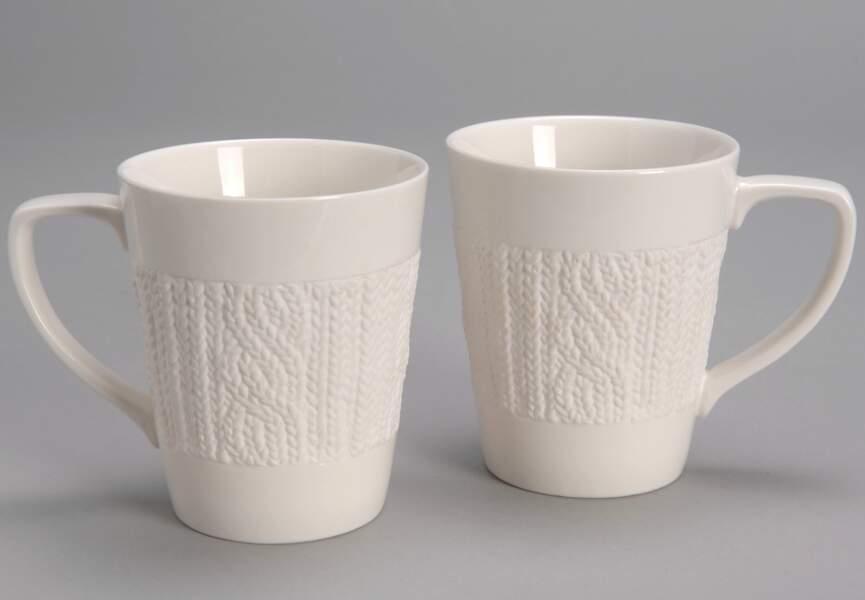 Mugs façon tricot