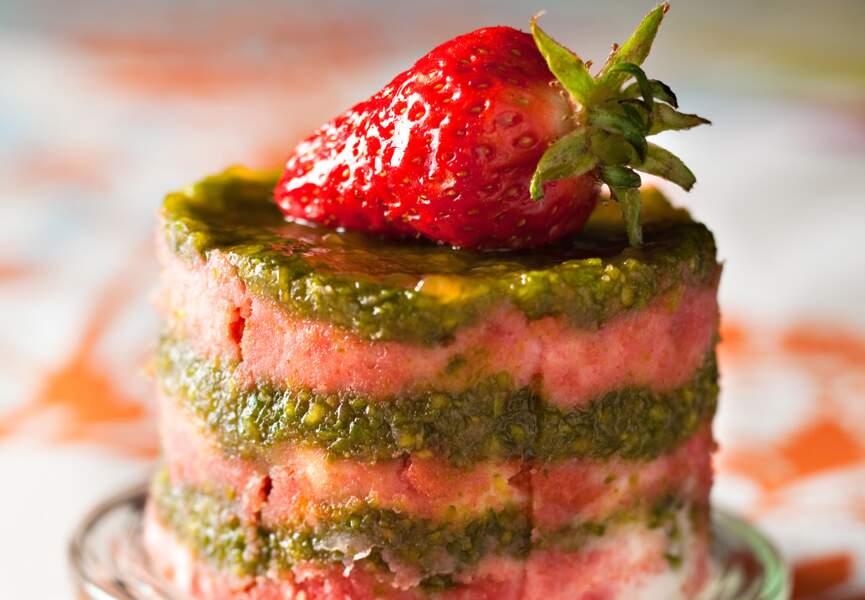 Délice fraise pistache