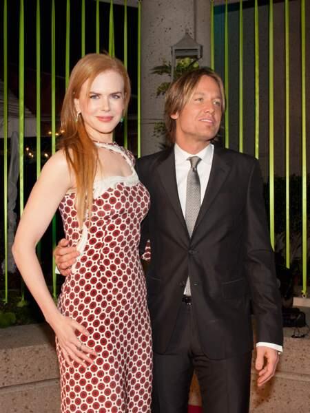 Nicole Kidman et Keith Urban à la cérémonie des BMI Country Awards à Nashville le 8 novembre 2011.