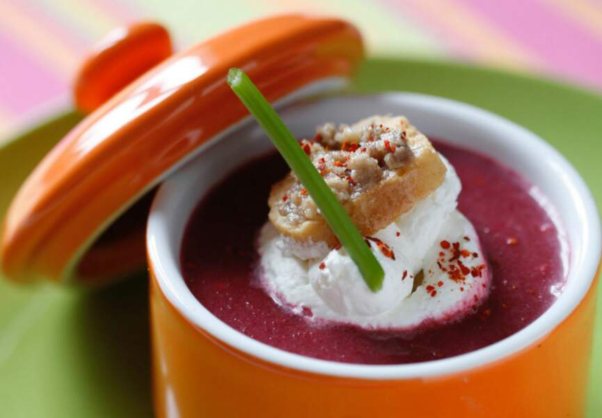 Gaspacho de betterave rouge