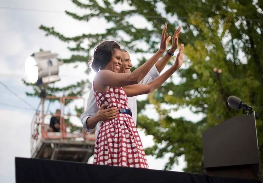 Michelle Obama, soutien inébranlable de Barack.