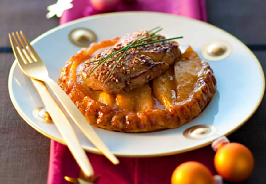 Tatin de mangue et foie gras