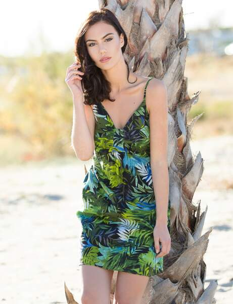 Robe de plage feuillage