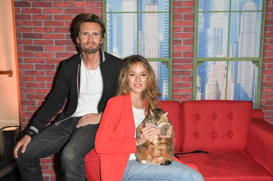 """Philippe Lacheau et sa compagne Elodie Fontan à la première de """"Comme des Bêtes 2"""" le 19 juin 2019."""