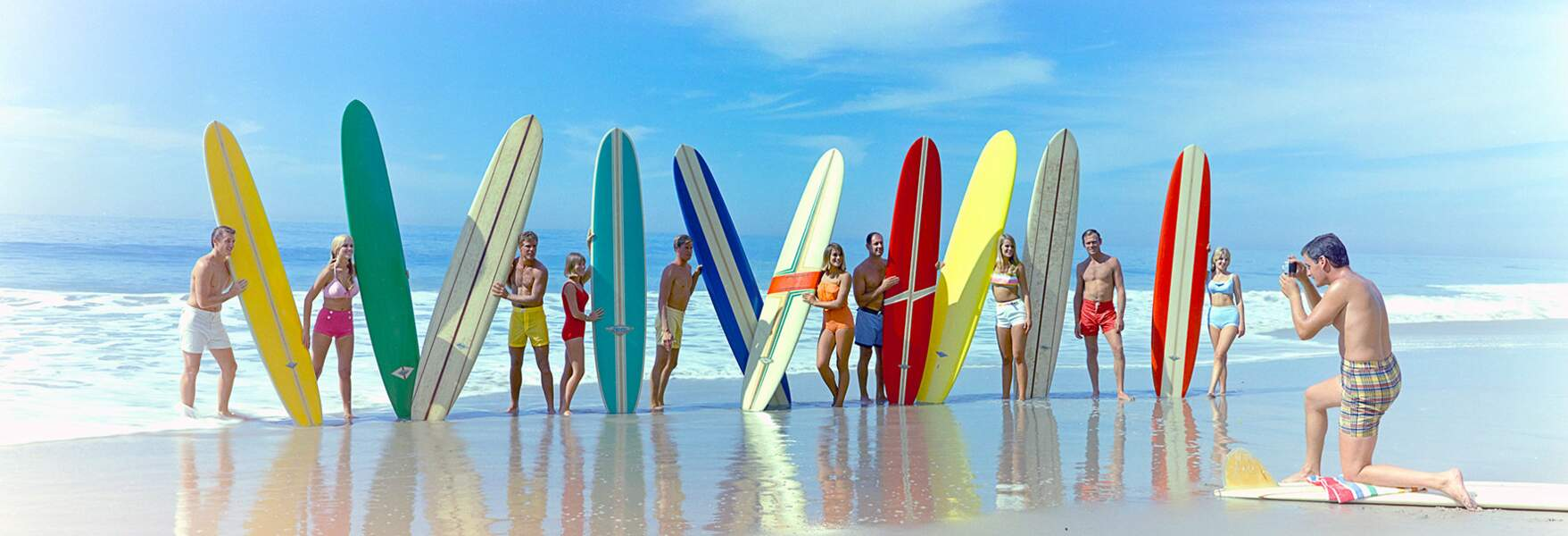 Surfers And surfboards, 1966