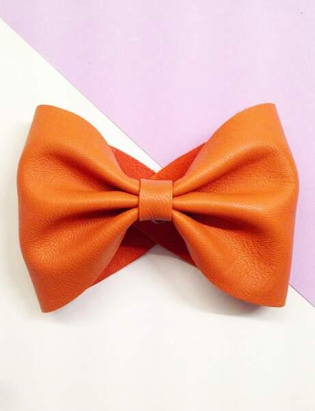 Tendance orange : la manchette girly