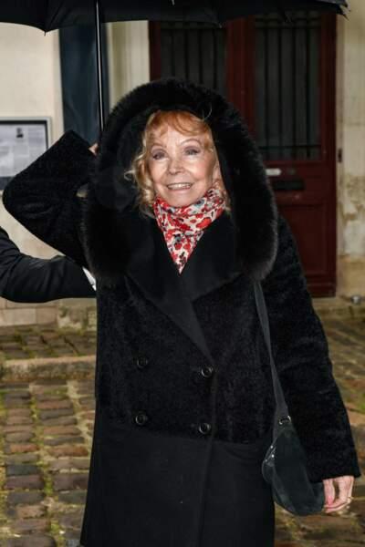 Isabelle Aubret aux obsèques de Dick Rivers en l'église Saint-Pierre de Montmartre, à Paris, le 2 mai 2019.