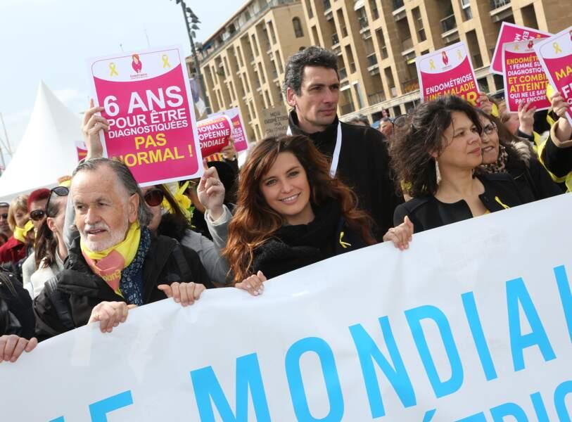 Laetitia Milot lors de la marche mondiale contre l'endométriose.