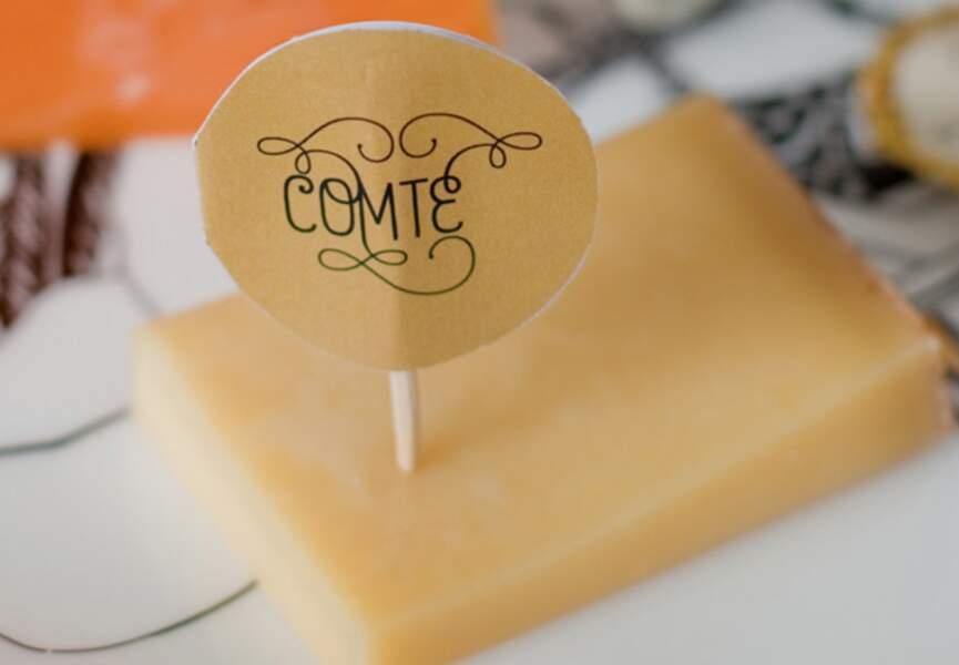 Des étiquettes pour le fromage