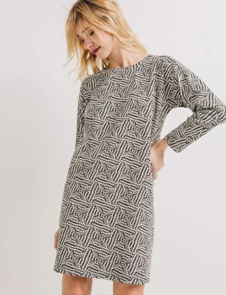 Robes petit prix : jacquard