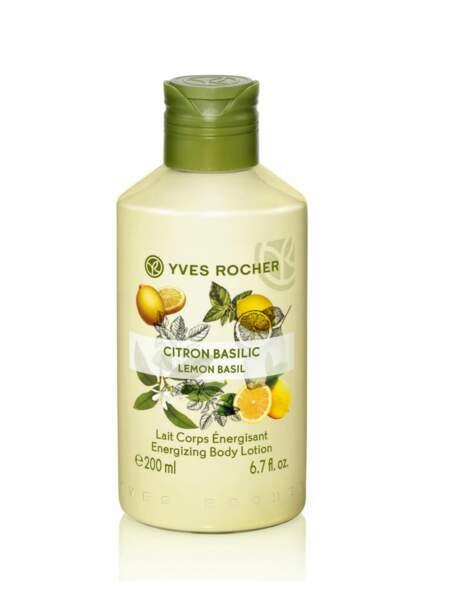 Lait Corps Energisant citron-basilic, Yves Rocher : pour un effet tonique