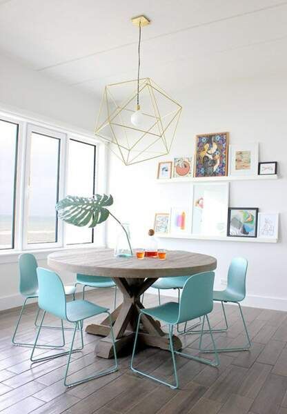 Chaises turquoise