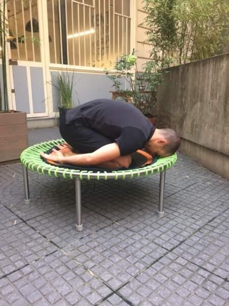 Mini-trampoline bellicon : posture n°8