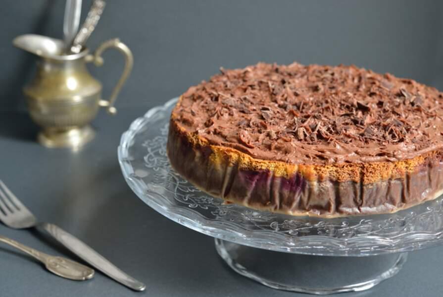 Gâteau magique chocolat et mûres