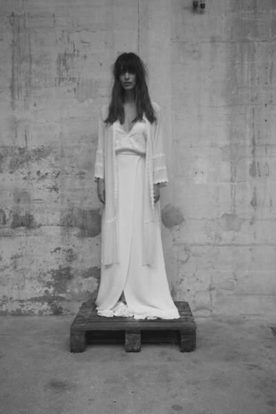 Mariage en hiver : Robe de mariée Kimono par Elise Hameau