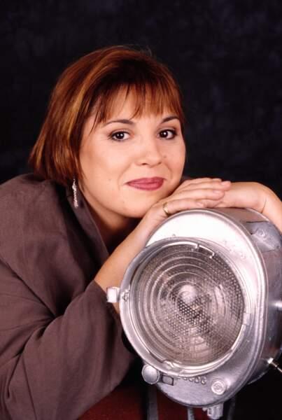 Michèle Bernier en séance photo en 2000.