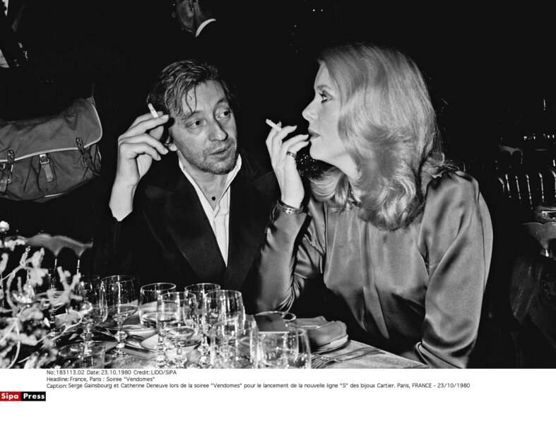 Serge Gainsbourg et Catherine Deneuve