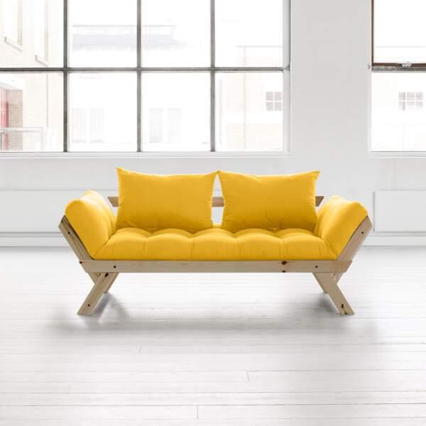 Canapé jaune soleil