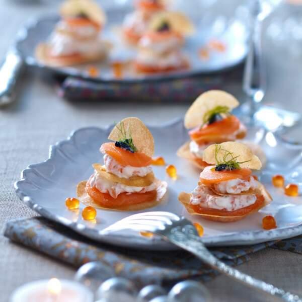 Croustillant de saumon fumé