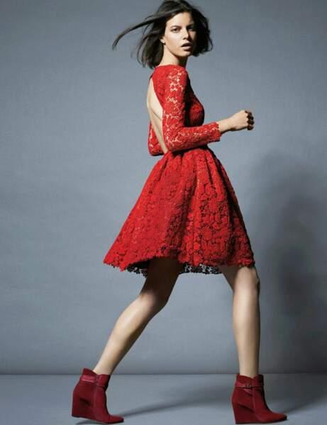 La robe dentelle de Ba&sh pour La Redoute